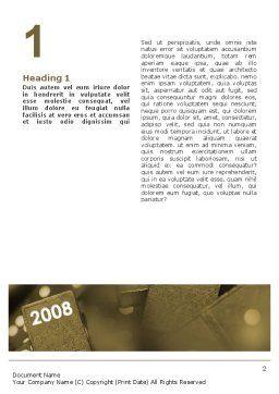 Jahr 2008 Im Domino Word Vorlage 02594 Poweredtemplate Com