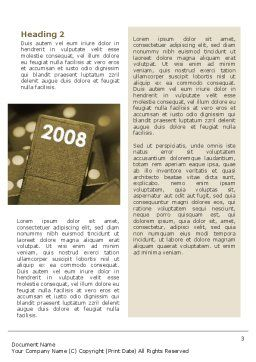Year 2008 In Domino Word Template, Second Inner Page, 02594, Business Concepts — PoweredTemplate.com