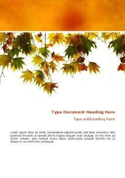 Autumn Mood Word Template Cover Page