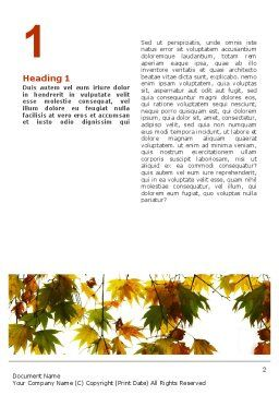 Autumn Mood Word Template, First Inner Page, 02596, Nature & Environment — PoweredTemplate.com