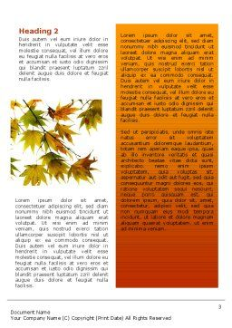 Autumn Mood Word Template, Second Inner Page, 02596, Nature & Environment — PoweredTemplate.com
