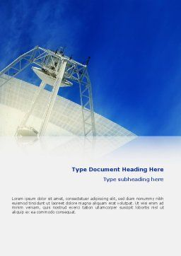 Communication Arial Technology Word Template Cover Page