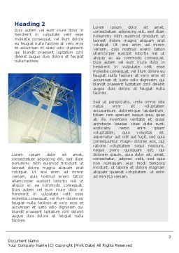 Communication Arial Technology Word Template Second Inner Page