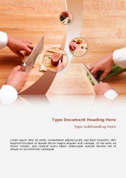 Kitchen Knives Word Template, Cover Page, 02599, Utilities/Industrial — PoweredTemplate.com