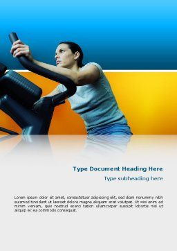 Sports Club Word Template, Cover Page, 02600, Sports — PoweredTemplate.com