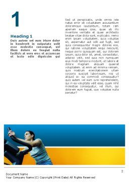 Sports Club Word Template, First Inner Page, 02600, Sports — PoweredTemplate.com