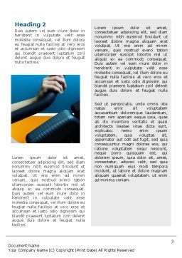 Sports Club Word Template, Second Inner Page, 02600, Sports — PoweredTemplate.com