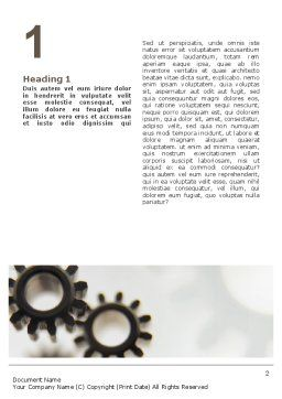 Gears Word Template, First Inner Page, 02605, Utilities/Industrial — PoweredTemplate.com