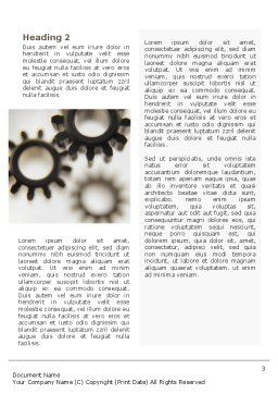 Gears Word Template, Second Inner Page, 02605, Utilities/Industrial — PoweredTemplate.com