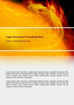 Solar Flare Word Template, Cover Page, 02606, Technology, Science & Computers — PoweredTemplate.com