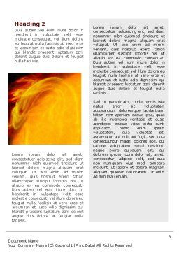Solar Flare Word Template, Second Inner Page, 02606, Technology, Science & Computers — PoweredTemplate.com