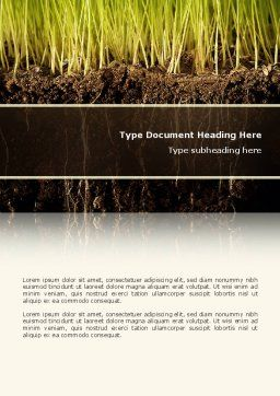 Soil Word Template, Cover Page, 02607, Nature & Environment — PoweredTemplate.com