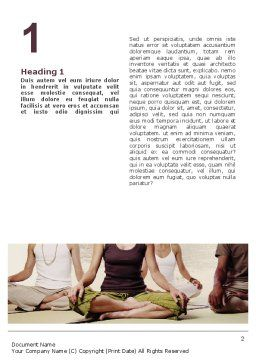 Holistic Medicine Word Template First Inner Page