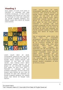 Play and Learn Word Template, Second Inner Page, 02613, Education & Training — PoweredTemplate.com