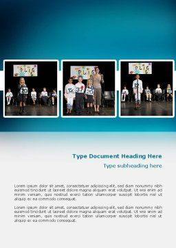 Spelling Competition Word Template, Cover Page, 02614, Education & Training — PoweredTemplate.com