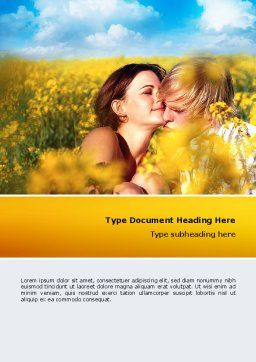 Summer of Love Word Template, Cover Page, 02621, Consulting — PoweredTemplate.com