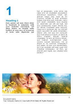 Summer of Love Word Template, First Inner Page, 02621, Consulting — PoweredTemplate.com