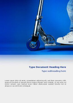 Kick Scooter Word Template, Cover Page, 02623, Cars/Transportation — PoweredTemplate.com