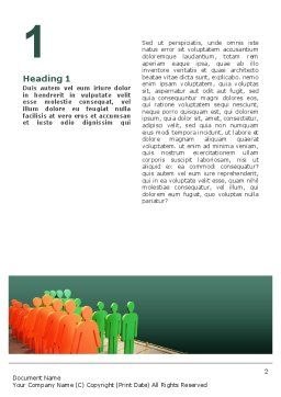 Population Word Template, First Inner Page, 02624, Consulting — PoweredTemplate.com
