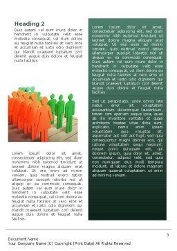 Population Word Template, Second Inner Page, 02624, Consulting — PoweredTemplate.com
