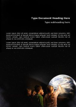 Planetarium Word Template Cover Page