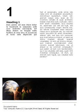 Planetarium Word Template First Inner Page