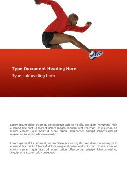 Breaking Barriers Word Template, Cover Page, 02629, Sports — PoweredTemplate.com