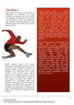 Breaking Barriers Word Template, Second Inner Page, 02629, Sports — PoweredTemplate.com