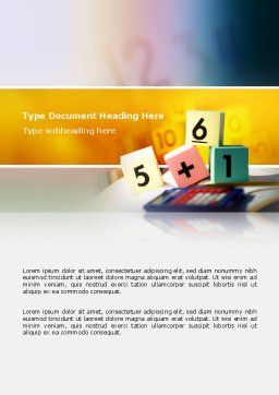 Arithmetic Cubes Word Template, Cover Page, 02630, Education & Training — PoweredTemplate.com