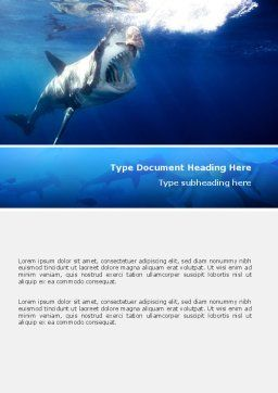 Shark Hanting Word Template Cover Page
