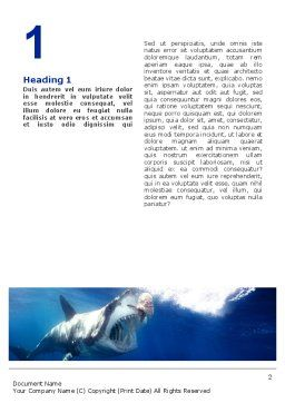 Shark Hanting Word Template First Inner Page
