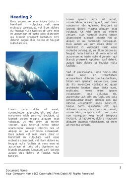 Shark Hanting Word Template Second Inner Page
