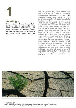 Drought Word Template, First Inner Page, 02635, Nature & Environment — PoweredTemplate.com