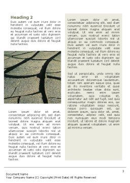 Drought Word Template Second Inner Page