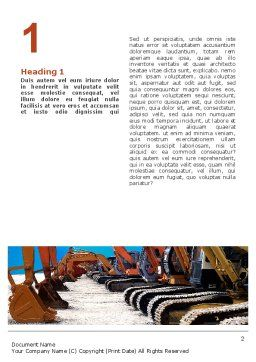 Heavy Construction Equipment Word Template, First Inner Page, 02636, Utilities/Industrial — PoweredTemplate.com