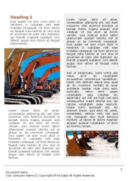 Heavy Construction Equipment Word Template, Second Inner Page, 02636, Utilities/Industrial — PoweredTemplate.com