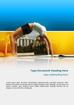 Gymnastics Word Template, Cover Page, 02641, Sports — PoweredTemplate.com