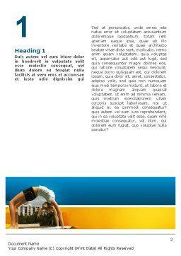 Gymnastics Word Template, First Inner Page, 02641, Sports — PoweredTemplate.com