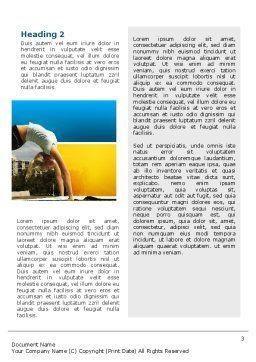 Gymnastics Word Template, Second Inner Page, 02641, Sports — PoweredTemplate.com