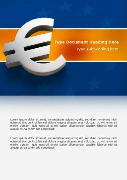 European Union Word Template, Cover Page, 02642, Financial/Accounting — PoweredTemplate.com