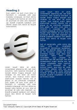 European Union Word Template Second Inner Page