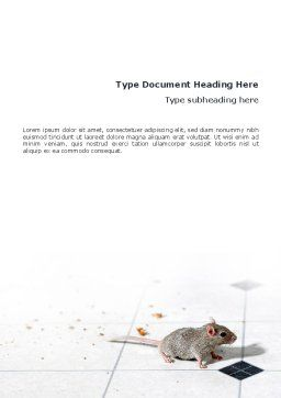Mouse Word Template, Cover Page, 02644, Agriculture and Animals — PoweredTemplate.com
