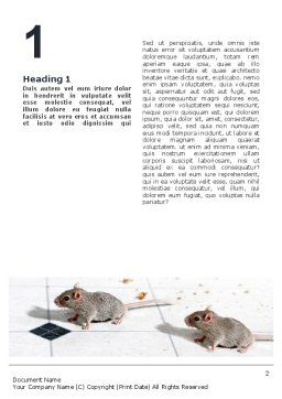 Mouse Word Template, First Inner Page, 02644, Agriculture and Animals — PoweredTemplate.com