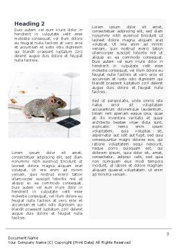 Mouse Word Template, Second Inner Page, 02644, Agriculture and Animals — PoweredTemplate.com