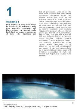 Aurora Word Template, First Inner Page, 02645, Technology, Science & Computers — PoweredTemplate.com
