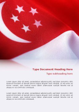 Flag of Singapore Word Template Cover Page