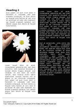 Chamomile Word Template Second Inner Page