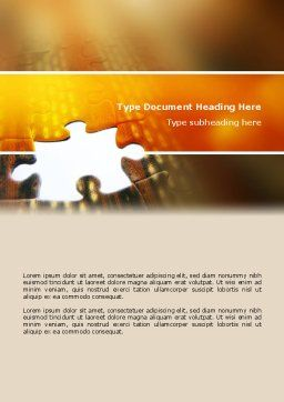 Missing Part Word Template, Cover Page, 02652, Business Concepts — PoweredTemplate.com