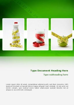 Diet Word Template, Cover Page, 02653, Medical — PoweredTemplate.com