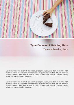 Piece of Cake Word Template, Cover Page, 02656, Food & Beverage — PoweredTemplate.com